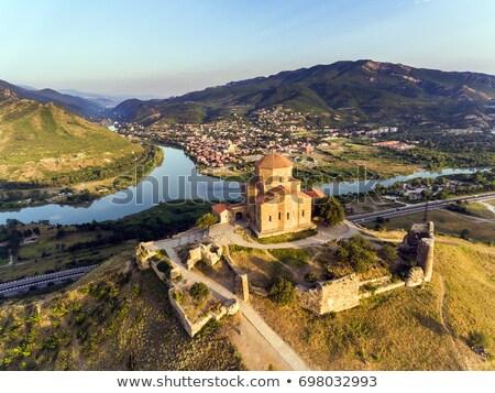 Grúzia öreg város Kaukázus hegy terjedelem Stock fotó © joyr
