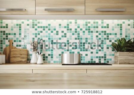 resumen · azulejos · mosaico · verde · azul · amarillo - foto stock © ruslanomega