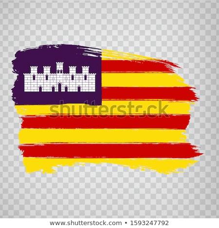 Flag of the Balearic Islands Stock photo © creisinger