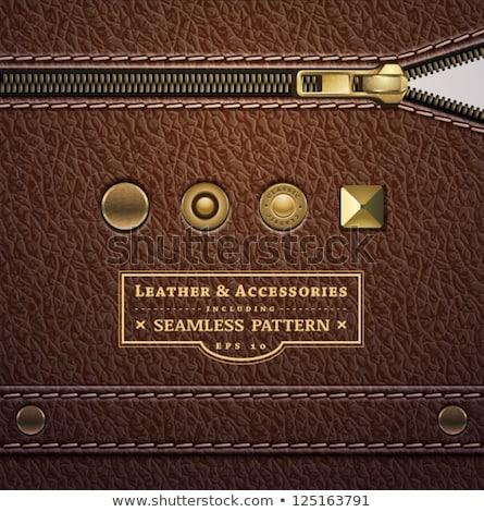zipper leather texture Stock photo © FOKA