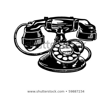 Two vintage telephones stock photo © andromeda