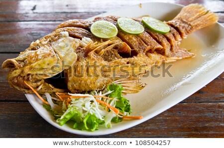 魚 タイ料理 食品 光 プレート レモン ストックフォト © FrameAngel