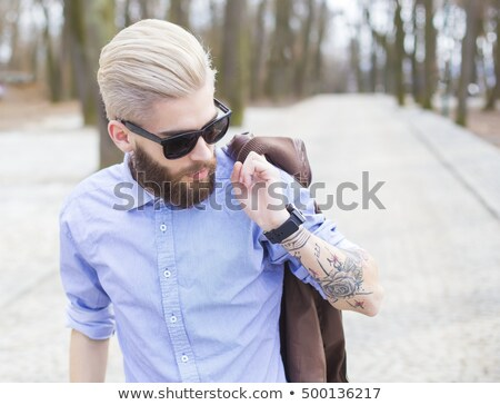 Handsome guy with tatoo Stock photo © Nejron