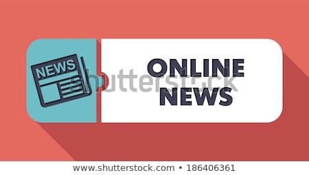 Stock fotó: Online · hírek · terv · gomb · hosszú · árnyékok
