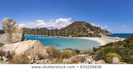 View of beautiful sea of Villasimius, in Sardinia, Italy stock photo © Dserra1