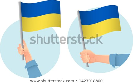 Vector hand with Ukraine flag illustration Stock photo © Hermione