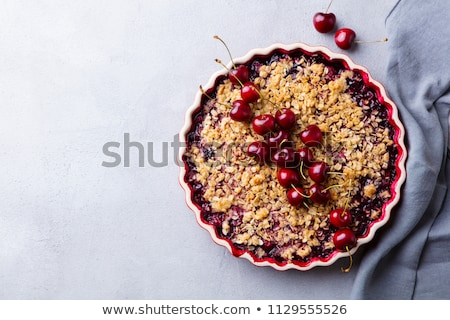 apple crumble and berry Stock photo © M-studio