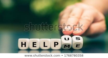 helpende · hand · solidariteit · dienst · bureau · straat - stockfoto © flipfine