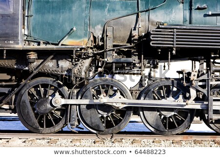detail of steam locomotive alamosa colorado usa stock photo © phbcz