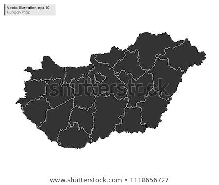 地図 · ヨーロッパ · ハンガリー · ハンガリー語 · フラグ · 孤立した - ストックフォト © mayboro1964