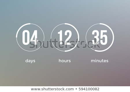 Digital Countdown Timer Stock photo © m_pavlov