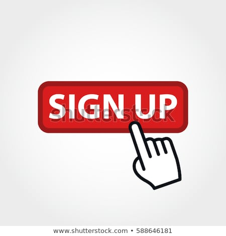 Sign Up Vector Button Icon Stock photo © rizwanali3d