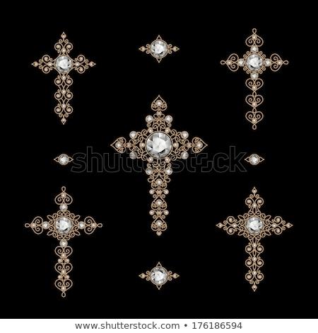 Christian Cross diamond religion, vector illustration  Stock photo © carodi