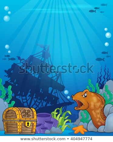 moray eel and treasure Stock photo © lineartestpilot