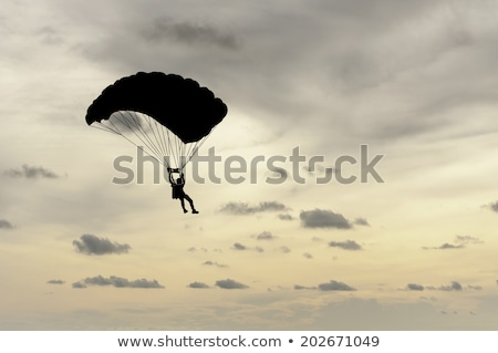 Paragliders flying in formation Stock photo © Ximinez
