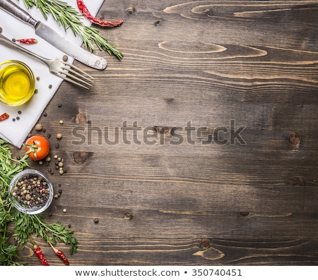 fresh organic vegetables on top of wooden table stock photo © ozgur