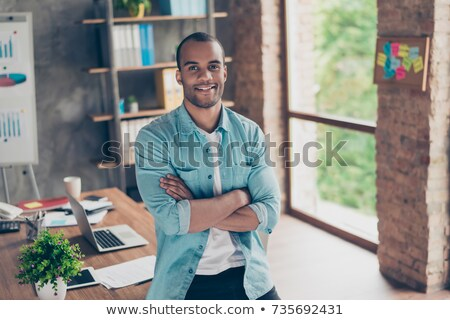молодые · деловой · человек · Постоянный · рук · фотография - Сток-фото © feedough
