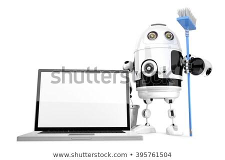 inşaat · robot · araçları · yalıtılmış · beyaz - stok fotoğraf © kirill_m