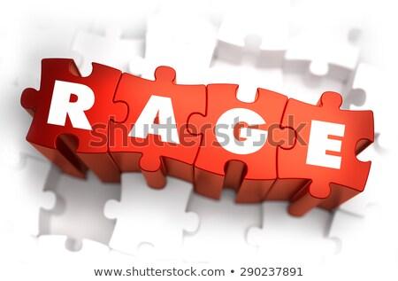 Wściekłość biały słowo czerwony 3d krzyk Zdjęcia stock © tashatuvango