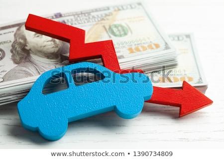 красный · автомобилей · деньги · графа · изолированный · белый - Сток-фото © cherezoff