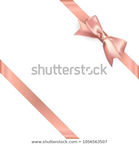 Fehér rózsa arany szatén lap copy space Stock fotó © madelaide
