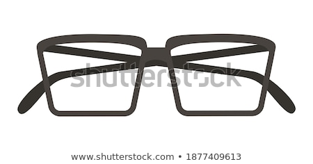 Black glasses to improve eyesight isolated on white background stock photo © teerawit