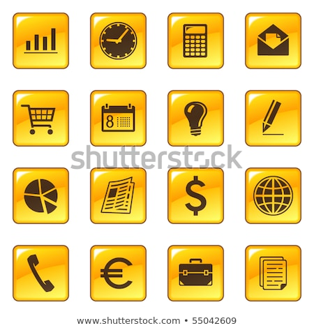 File Sign Yellow Vector Icon Button Stock photo © rizwanali3d