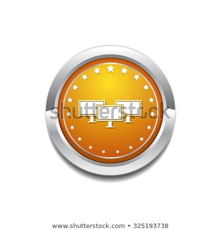 икона желтый вектора кнопки дизайна технологий Сток-фото © rizwanali3d