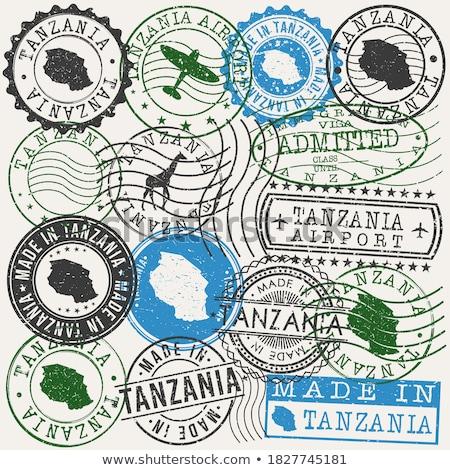 Tanzânia país bandeira mapa forma texto Foto stock © tony4urban