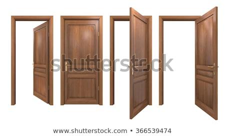 Abierto puerta blanco habitación Foto stock © sibrikov