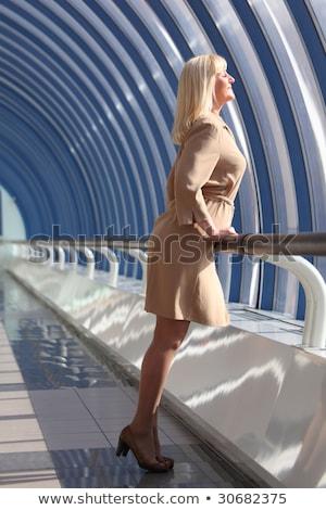 Güzel kadın dışarı pencere Stok fotoğraf © Paha_L