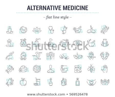 Medicina alternativa icona design foglie isolato natura Foto d'archivio © WaD