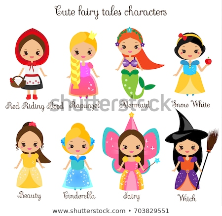 Cute chibi princess Stock photo © sahua