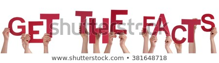Stockfoto: Mensen · handen · Rood · woord · feiten