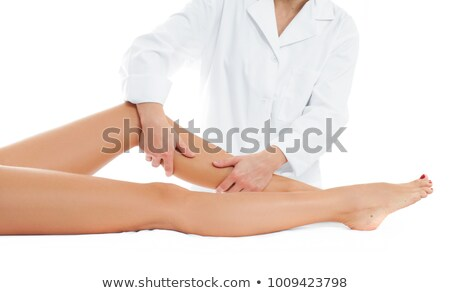 女性 · マッサージ師 · 脚 · スパ · センター - ストックフォト © wavebreak_media
