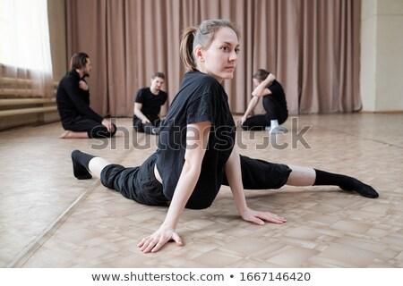flamenco · táncos · portré · ajkak · fekete · női - stock fotó © konradbak