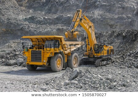 Dump Truck and Excavator in a Quarry Stock photo © Digifoodstock
