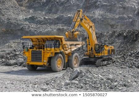 excavadora · camión · blanco · aislado · construcción · trabajo - foto stock © digifoodstock