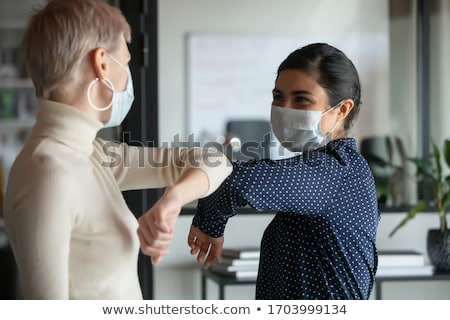 Stockfoto: Werkplek · gezondheid · werknemer · shot · tablet