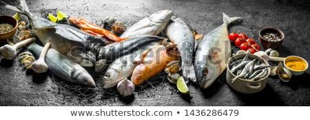 Сток-фото: чаши · свежие · группа · здорового · морепродуктов · никто