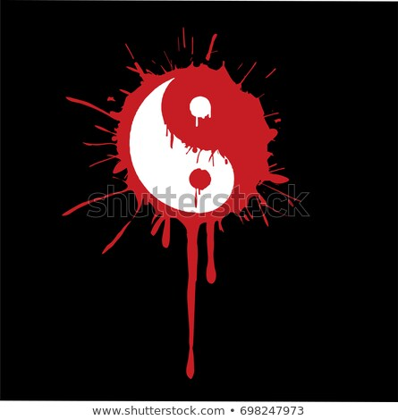 yin-yang with the ink dripping vector Stock photo © Hermione