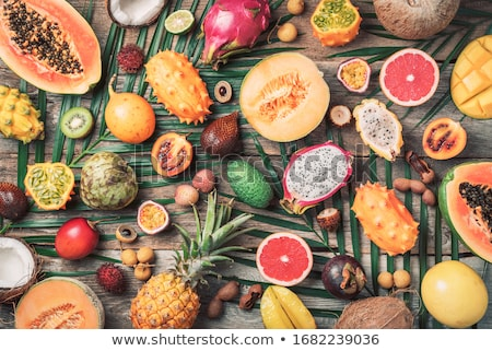 Melone frutta tavola alimentare tropicali dessert Foto d'archivio © racoolstudio