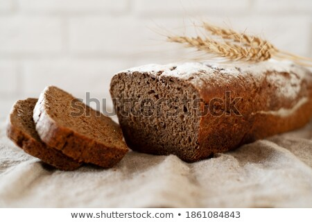 Wall of home made bread slices Stock photo © ozgur