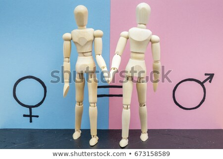 женщины мужчины женщины равенство символ Сток-фото © nito
