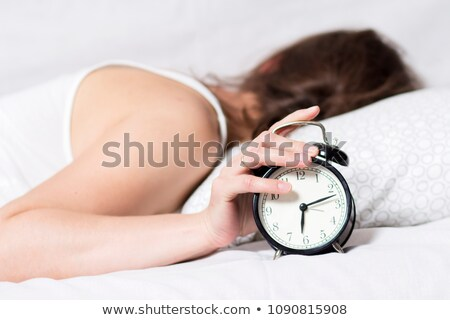 Stock photo: Woman does not want to wake up
