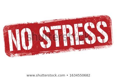 Negatív pecsét piros fehér címke depresszió Stock fotó © chrisdorney