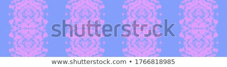 Stockfoto: Orchids On Blue Parchment Template