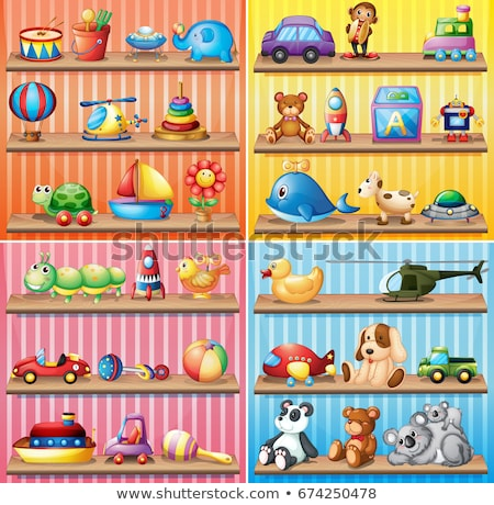 many dolls and balls on the shelf stock photo © bluering