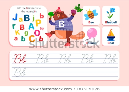 Flashcard letter B is for beaver Stock photo © bluering