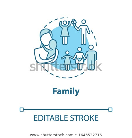 Rounded icons for family planning Stock photo © bluering